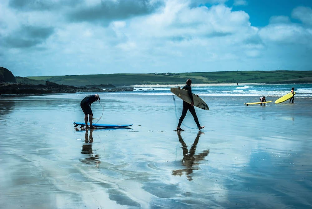 easter yoga surf and walking retreat in Cornwall