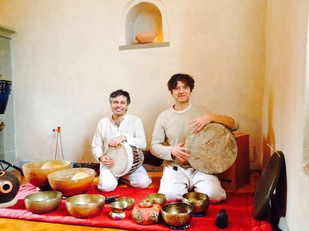yoga and drumming