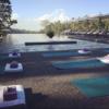 ocean and mountain yoga in Bali