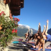alpine yoga and hiking retreat