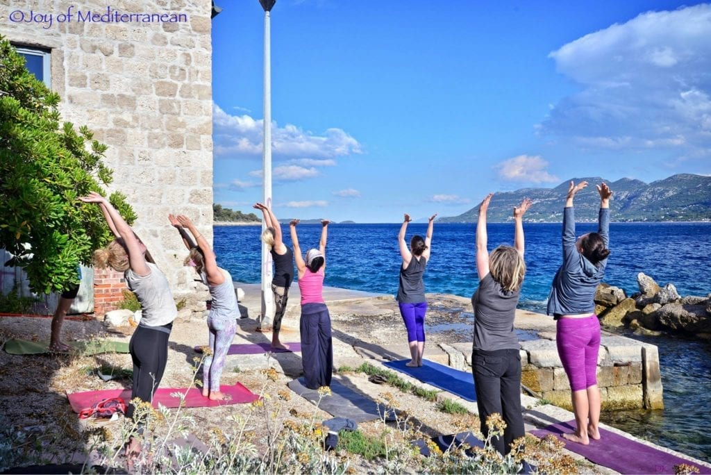 yoga and hiking seaside retreat Croatia