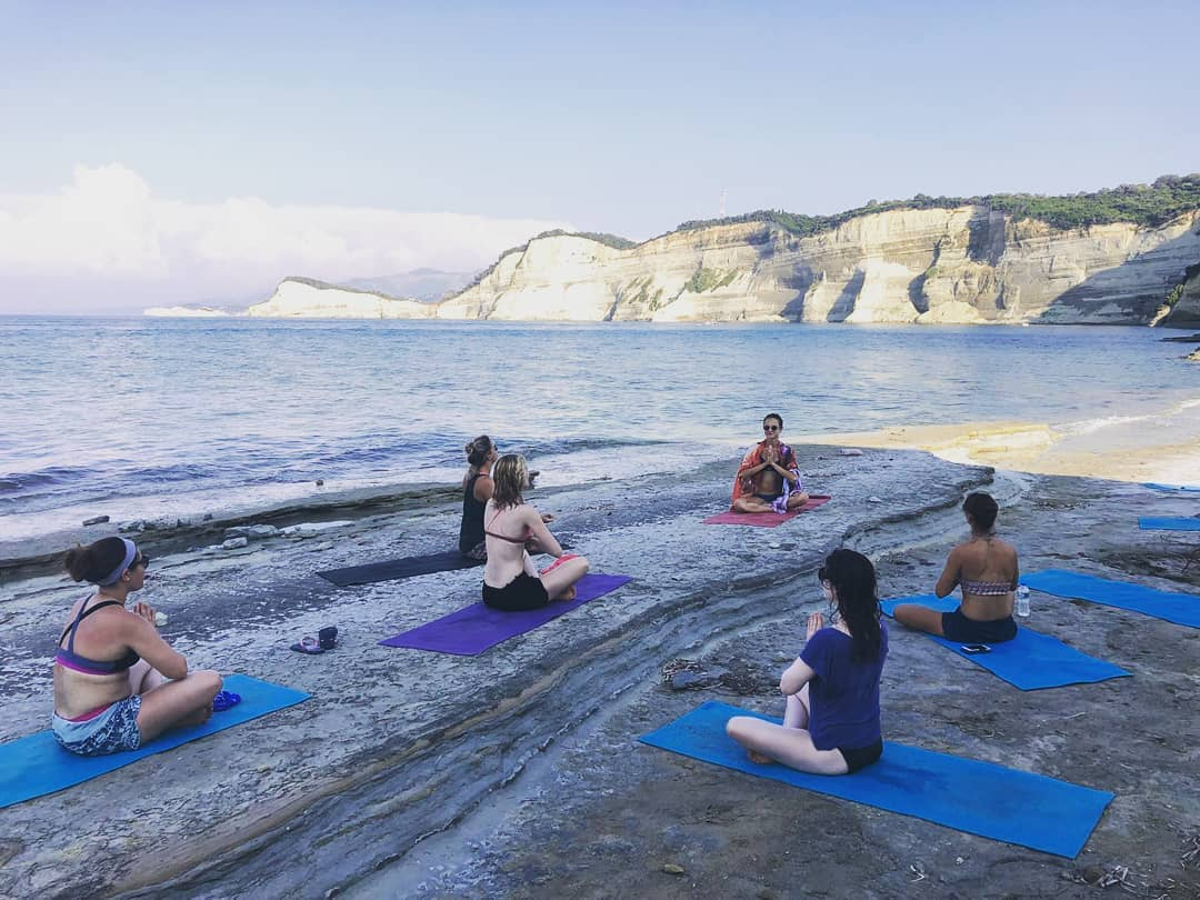 summer yoga retreat Corfu